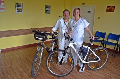 """Zaměstnanci Podhorské nemocnice se zapojili do akce """"Do práce na kole"""""""